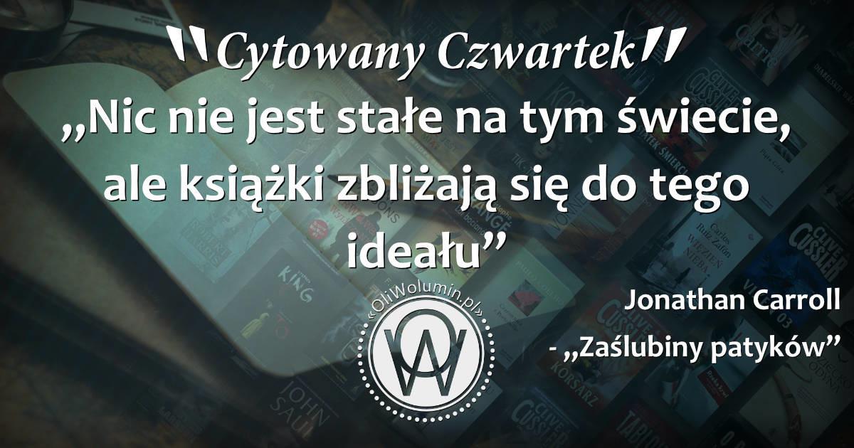 """Jonathan Carroll – """"Zaślubiny patyków"""""""