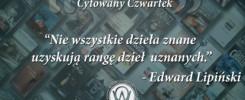 Cytowany Czwartek Edward Lipiński